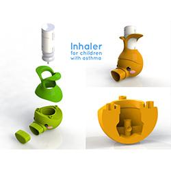 Asthma Inhaler 3D printed