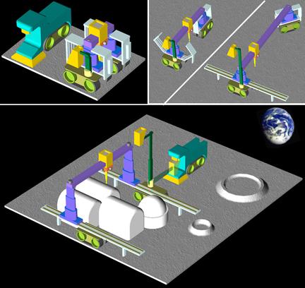 NASA 3D printing in moon