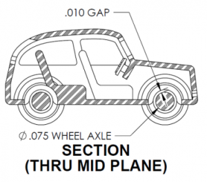 Tiny 3d printed car sketch