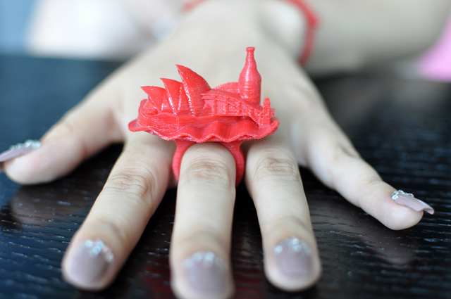 UP! 3d printed Ring Image