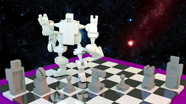 Action Chess set by Cymon