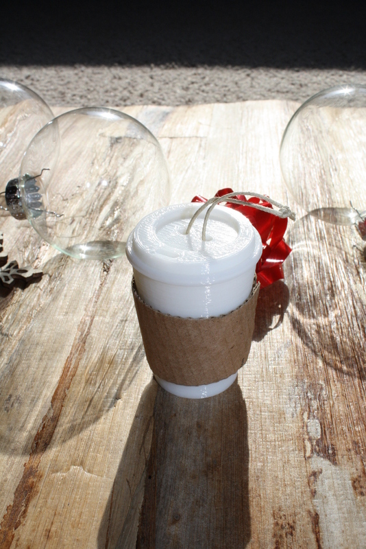 Eco-Friendly Coffee Cup Christmas Ornament by Relentless