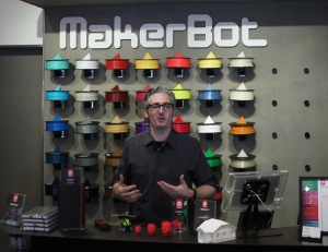 Bre Pettis in Makerbot Store