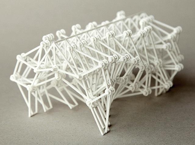 3d printed strandbeest new version 3d printing industry. Black Bedroom Furniture Sets. Home Design Ideas