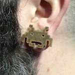 space invaders 3D printed wood