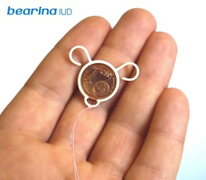 3D printed Bearina IUD with copper coin