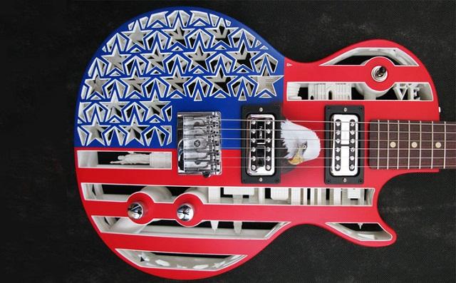 Olaf Diegel's Americana 3DP Guitar