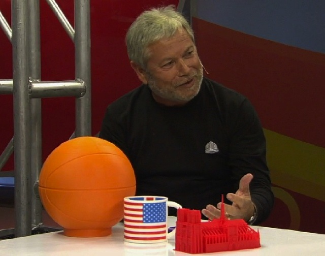Reichental and the 3D Printed Basketball