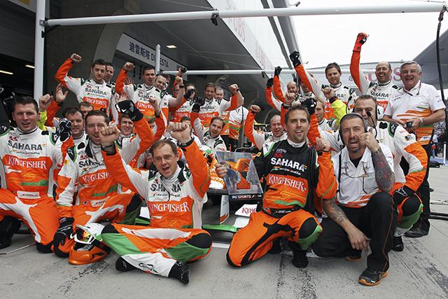 The Sahara Force India F1 Team mechanics