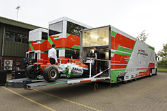 Sahara Force India Factory and Logistics Feature. 18th May 2012