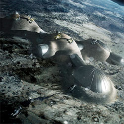 Moon Habitat 3D Printing