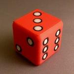 TriColour Mendel 3D Printed Dice