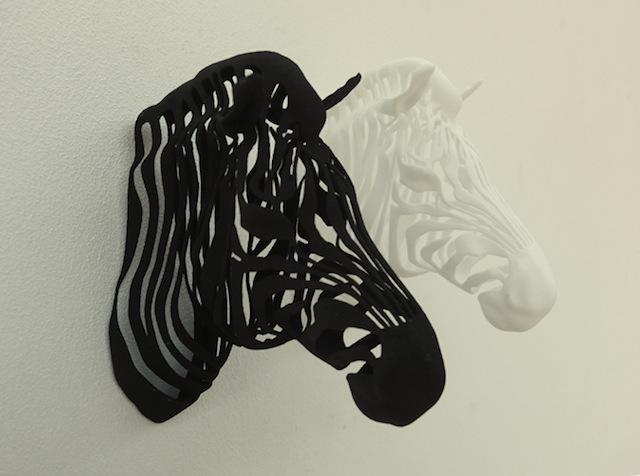 3D printed zebra black and white