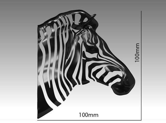 3D printed zebra scale