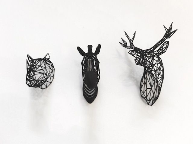 3D printed zebra with friends black