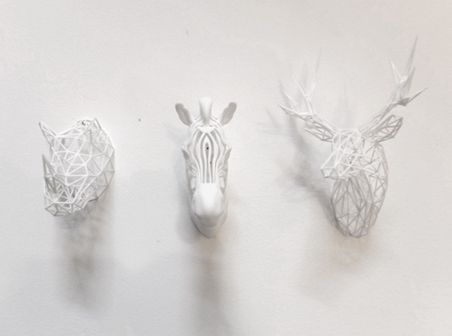 3Dprinted zebra with friends white