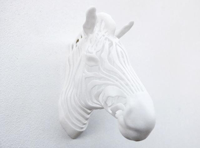 3d printed zebra white