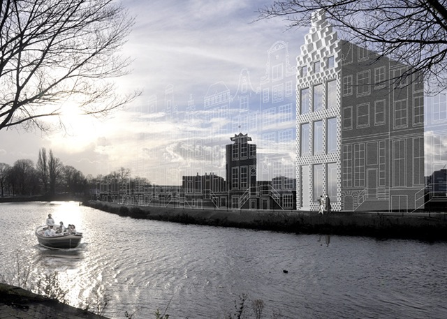 DUS Architects 3D printed canal house landscape