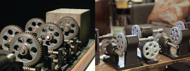 Machine with Concrete and its printed counterpart