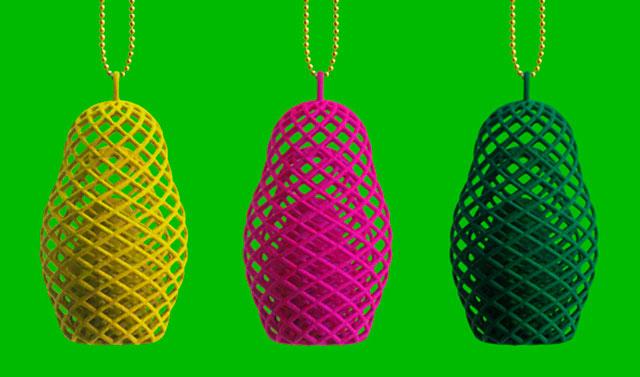 Mesh Matryoshka's 3d printed jewelry by Michiel Cornelissen