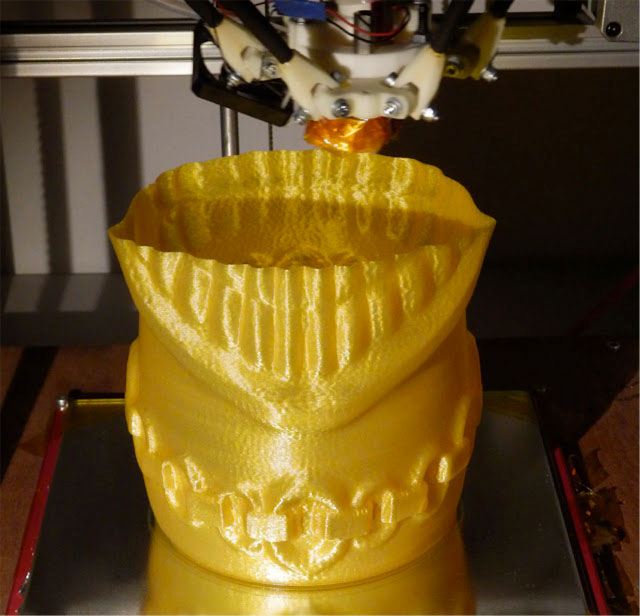 Rostock 3D printer - Teethy Tiki model by Perry Engel
