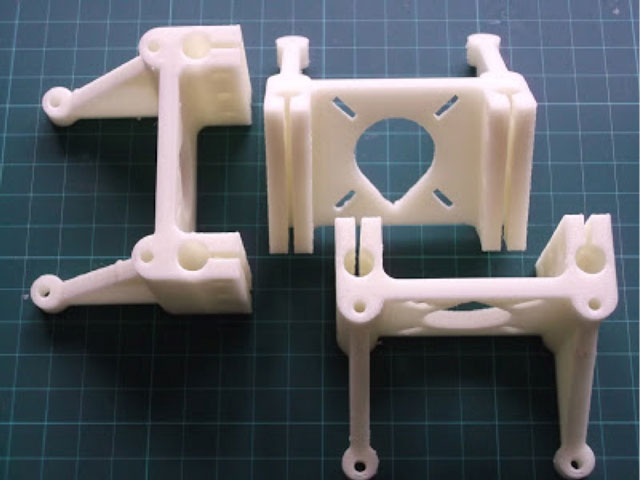 Rostock 3D printer - Three motor mounts, for Nema17 motors