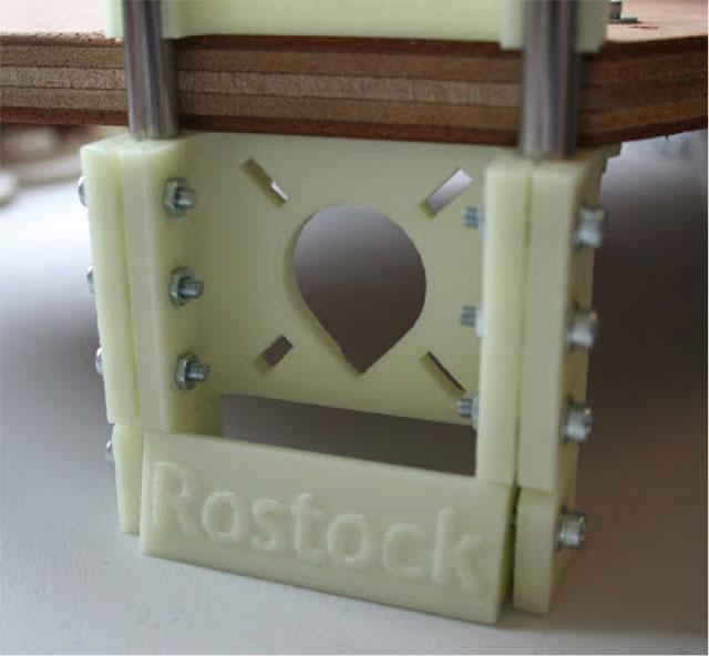 Rostock 3D printer - added feet