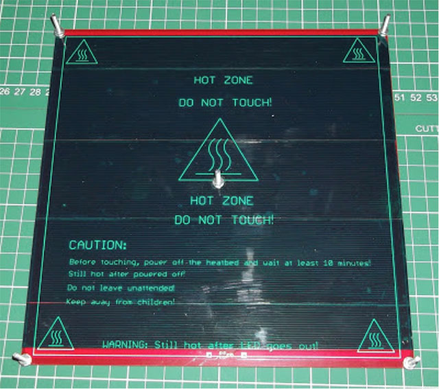 Rostock 3D printer - heated bed