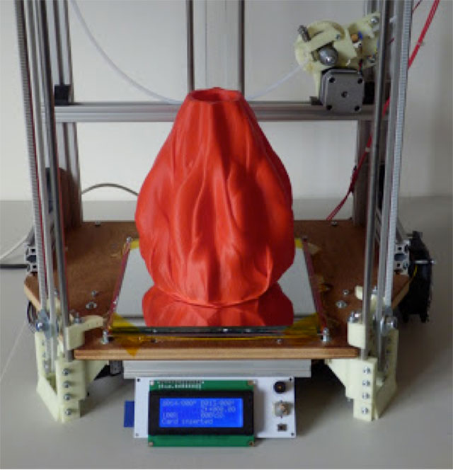 Rostock 3D printer - lava vase2