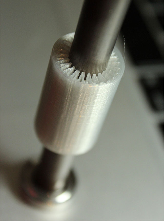 Rostock 3D printer - linear bearings (image-by-Propsfactory)