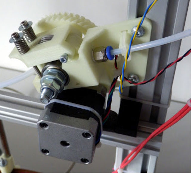 Rostock 3D printer - modified Greg's extruder