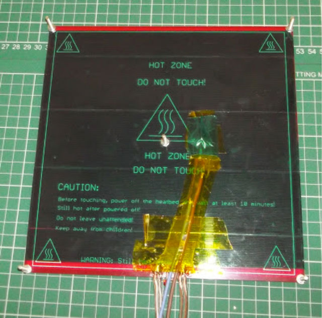 Rostock 3D printer - wiring and thermistor