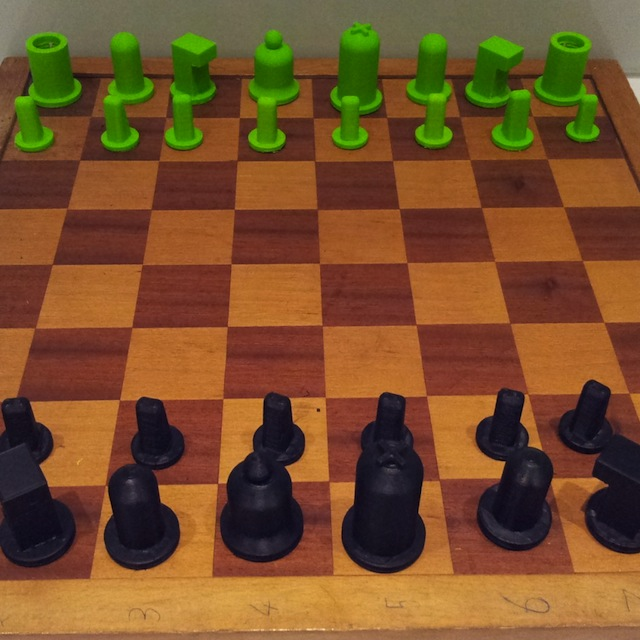 Ruben's 3d printed chess pieces