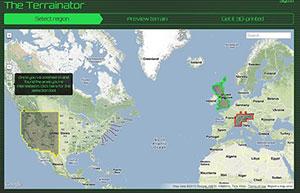 Terrainator map