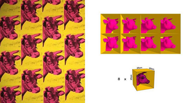 Cowbox Thomas Cornelis 3DP Andy Warhol