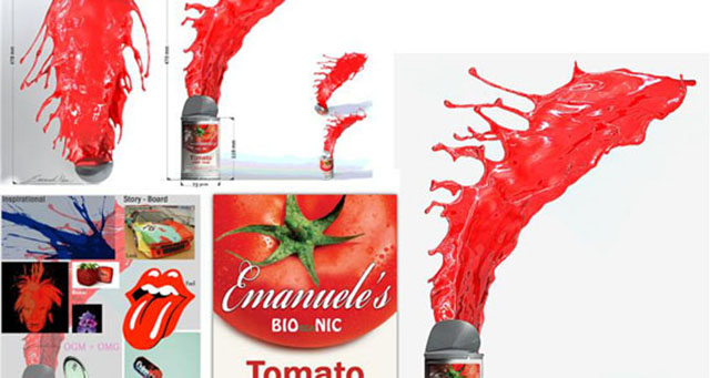 Tomato Paint soup by Emanuele Niri 3DP Andy Warhol