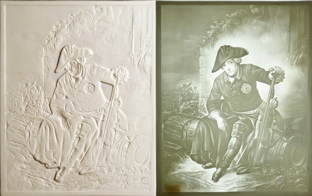 Lithopane comparison by Elke Wetzig