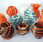 NYLON Pots 3D Printed Rostock Delta
