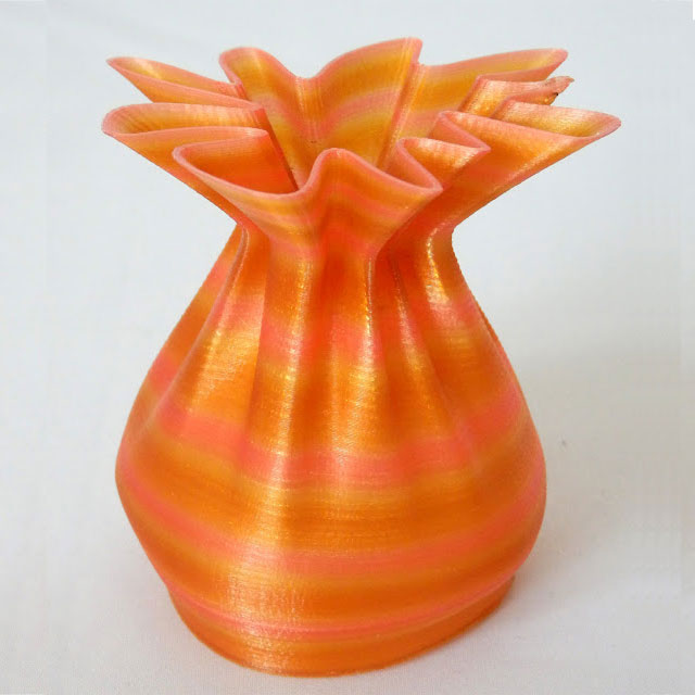 Nylon Sack Yellow Pink 3D printed
