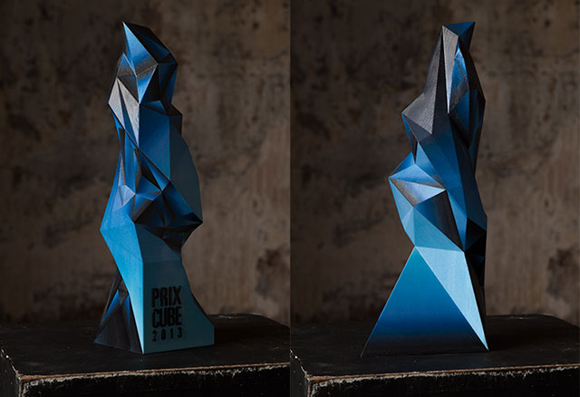 Hugo Arcier 3D Printed Trophy Prix Cube Awards