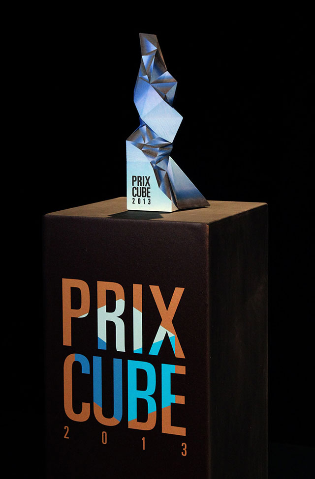 renowned artist hugo arcier produces 3d printed trophy for prix cube awards 3d printing industry. Black Bedroom Furniture Sets. Home Design Ideas
