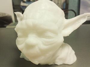 Yoda bust 3D printed