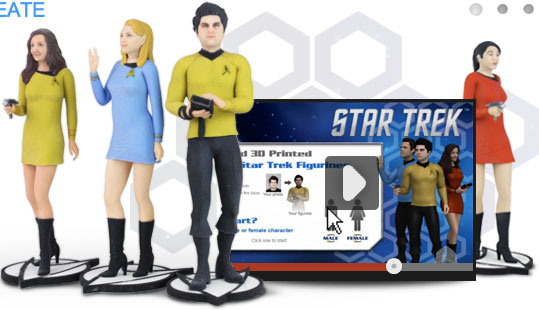 Star Trek 3D Printed Cubify