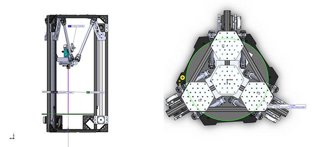 OpenBeam Kossel Pro 3D Printer Design