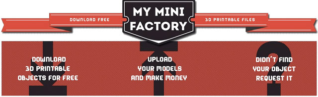 My Mini Factory 3D model online repository