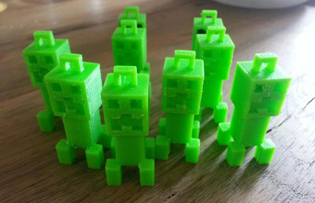 realrouge Creeper keychain Thingiverse