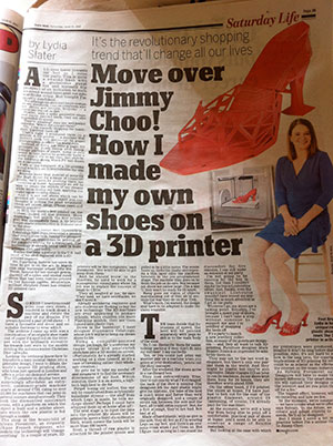 Daily Mail UK 3D Printed Shoe