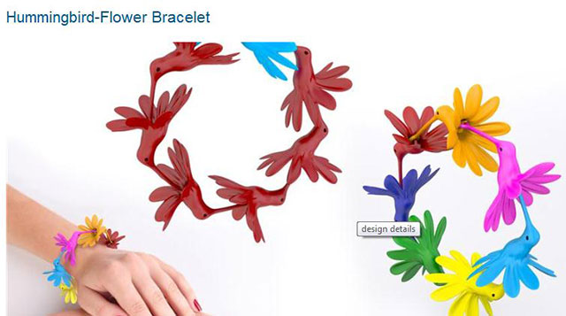Hummingbird Flower Bracelet March Van Megem