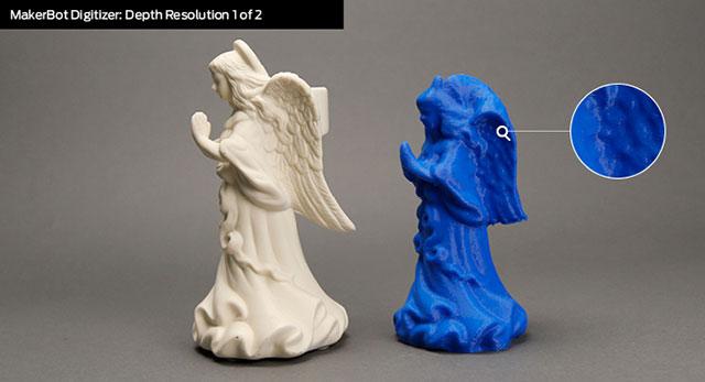 Makerbot Digitizer Desktop 3D Scanner Depth Resolution