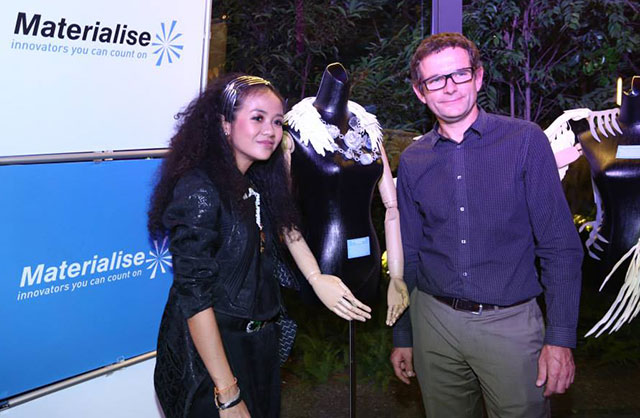 Melinda Looi and the head of Materialise Malaysia, Wim Michiels